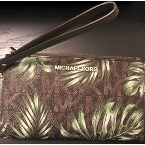 Michael Kors Palm Leaf Wristlet